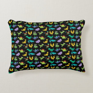 Derpy Dinosaurs pattern Decorative Pillow