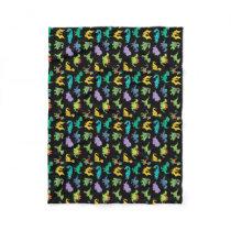 Derpy Dinosaurs pattern Fleece Blanket