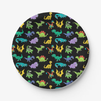Derpy Dinosaurs pattern Paper Plate