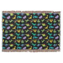 Derpy Dinosaurs pattern Throw Blanket