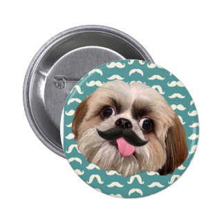 Derpy Dog: Mustache Appreciation Badge / Button