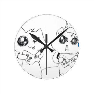 Derpy Katz Playing Round Clock