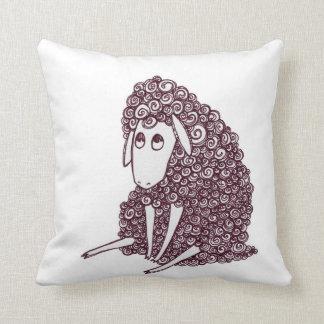 Derpy Sheep needs a Hug Throw Pillow