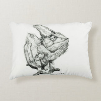 Derpy the Chameleon Single Sided Decorative Pillow