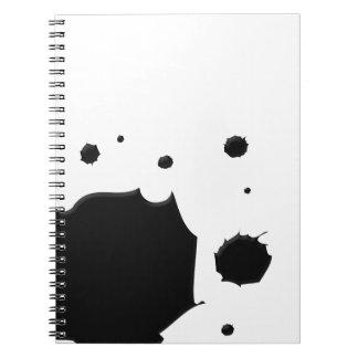 Derramamiento de la tinta libretas