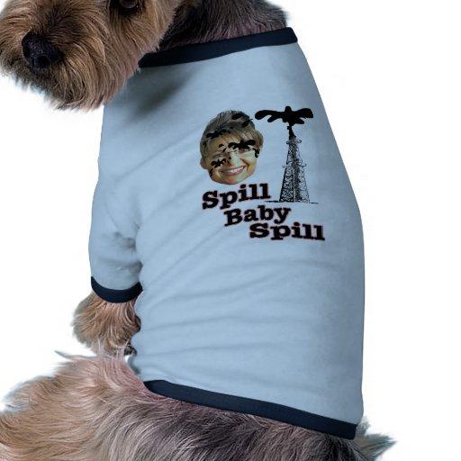 Derramamiento del bebé del derramamiento camiseta con mangas para perro