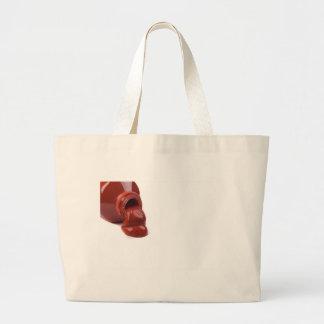 Derramamiento rojo de la pintura bolsa