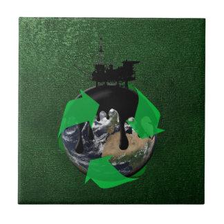 Derrame de petróleo azulejo cuadrado pequeño