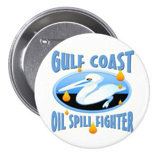 Derrame de petróleo de la costa del golf pin redondo de 3 pulgadas