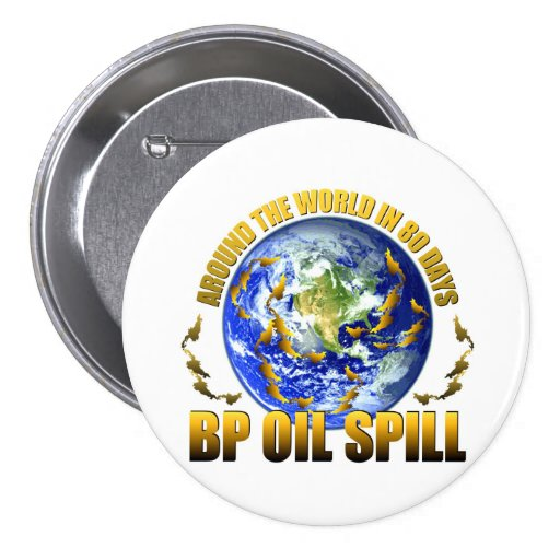 Derrame de petróleo de la Costa del Golfo de BP Pin Redondo 7 Cm