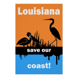 Derrame de petróleo del Golfo de México Póster
