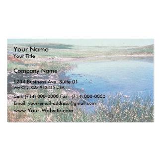 Derrame de petróleo en humedales plantilla de tarjeta personal