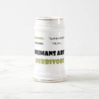 ¡Derrame las HABAS! Cerveza Stein Taza