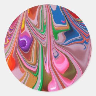 Derretimiento del caramelo pegatina redonda