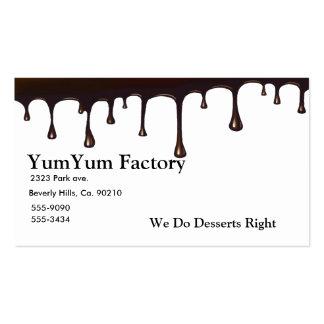 Derretimiento del goteo del chocolate tarjeta personal