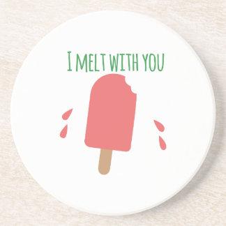 derretimiento del popsicle_I con usted Posavasos Personalizados