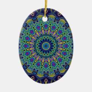 Derrick Kaleidoscope Ceramic Ornament
