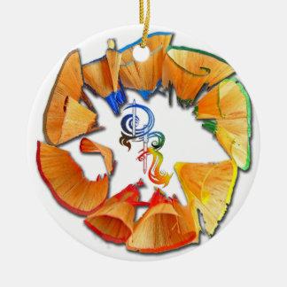 Derrick the Artist Colored Pencil Logo Ceramic Ornament
