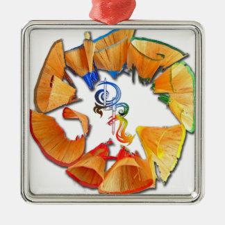 Derrick the Artist Colored Pencil Logo Metal Ornament