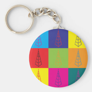 Derricks Pop Art Basic Round Button Keychain