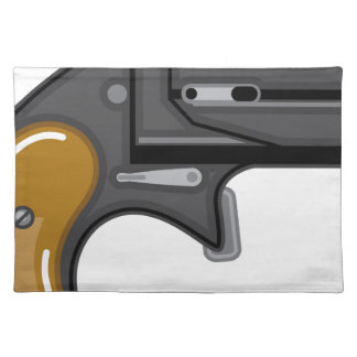 Derringer gun Vector Cloth Placemat