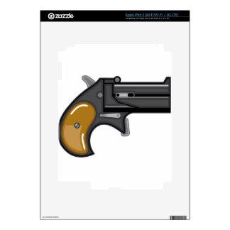 Derringer gun Vector Decal For iPad 3