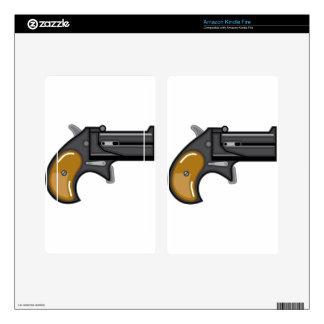 Derringer gun Vector Kindle Fire Skin