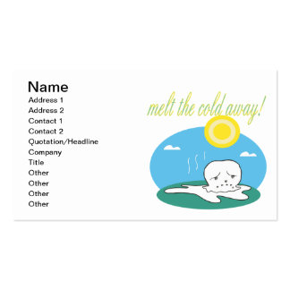 Derrita el frío ausente plantillas de tarjetas personales