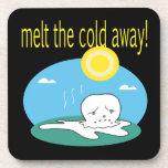 Derrita el frío lejos 2 posavasos