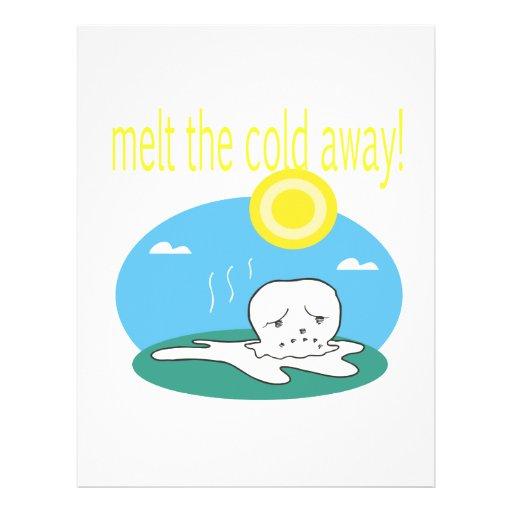 Derrita el frío lejos 2 tarjetones