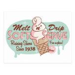 Derrita la postal suave del helado del servicio de