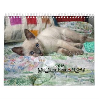 Derrita su corazón - calendario 2016 del gatito