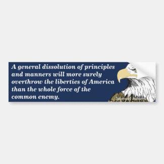 Derrocamiento de las libertades americanas (Adams) Pegatina Para Auto