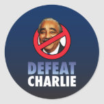 Derrota Charlie Rangel Pegatinas Redondas
