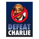 Derrota Charlie Rangel Tarjeta Postal
