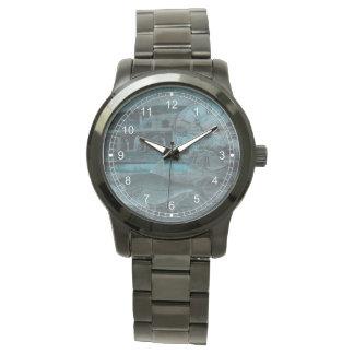 Derrota de los azules relojes de pulsera