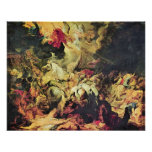 Derrota Sanheribs de Paul Rubens Posters
