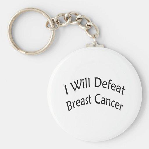 Derrotaré al cáncer de pecho llaveros personalizados