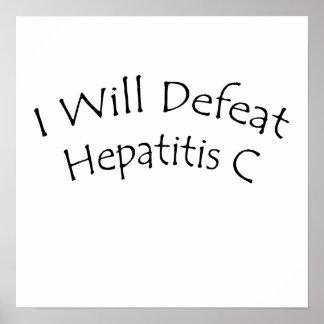 Derrotaré la hepatitis C Poster