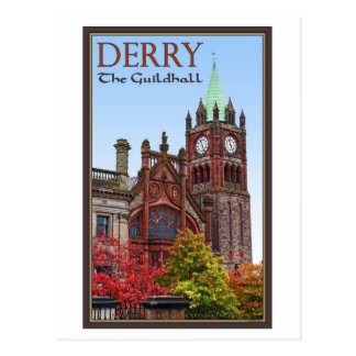 Derry - The Guildhall Post Card
