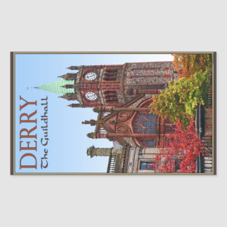 Derry - The Guildhall Rectangle Sticker