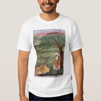 Dervish With A Lion And A Tiger. Mughal Painting. T Shirt