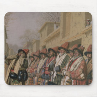 Dervishes' Chorus Begging Alms in Tashkent, 1870 Mouse Pad