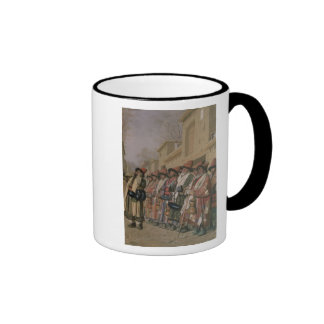 Dervishes' Chorus Begging Alms in Tashkent, 1870 Ringer Coffee Mug