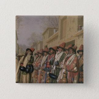 Dervishes' Chorus Begging Alms in Tashkent, 1870 Pinback Button