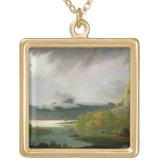 Derwent Water with Skiddaw in the Distance, c.1795 Gold Plated Necklace