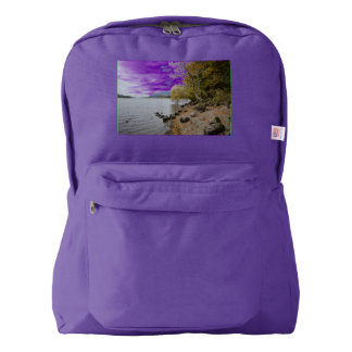 Derwentwater, Lake District, Cumbria American Apparel™ Backpack
