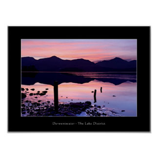 Derwentwater sunset, The Lake District Poster