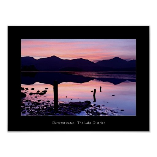 Derwentwater sunset, The Lake District Poster