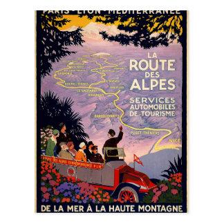DES Alpes de la ruta del La Tarjeta Postal